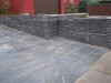 Højbed beton skifer indkørsel sorte fliser 30x60