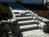 Granit trappe med 1 pose Danfugesand